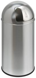 Pushcan mat RVS, EKO - 40 liter