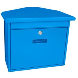 Wandbrievenbus Zamoran 392x205x345mm blauw