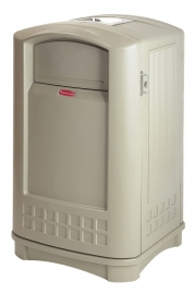 Landmark container met asbak, Rubbermaid beige - 189 liter
