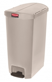 Slim Jim Step On container End Step kunststof, Rubbermaid beige - 68 liter