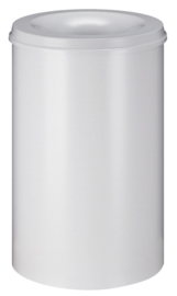 Vlamdovende papierbak wit - 110 liter