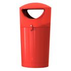 Afvalbak Metro Hooded rood - 100 liter