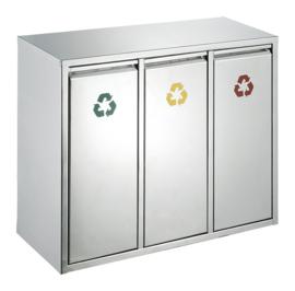 Recycling afvalbak - 3 x 8 liter