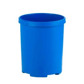 Ronde papierbak blauw - 50 liter