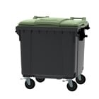 Container groen vlak deksel - 770 liter