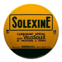 Emaille bord Solexine rond 100mm