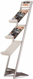 Floor brochure rack Rapid t.b.v. 3 x A4