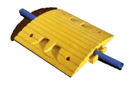 verkeersdrempel middenelement met kabeldoorgang 500x500x70mm GEEL