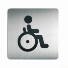 RVS pictogram invaliden toilet vierkant 150mm
