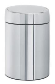 wandafvalemmertje Slide bin, Brabantia RVS - 5 liter