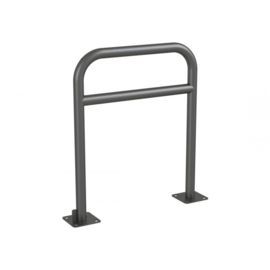 fietshoepel met tussenstang op voetplaat