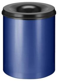 Vlamdovende papierbak blauw/ zwart - 80 liter