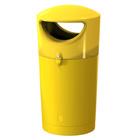Afvalbak Metro Hooded geel - 100 liter