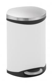 Shell bin, EKO mat RVS/ wit - 10 liter