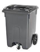 Mini container 3 wiel grijs - 360 liter