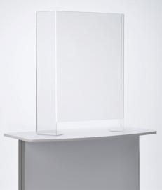 Toonbank beschermwand - 74 x 90 cm - Staand - Transparant