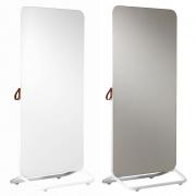 Chameleon Mobile dubbelzijdig whiteboard/ prikbord 890x1920mm wit/ frame en prikbord grijs