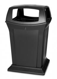 Afvalbak Ranger container zwart met 4 openingen - 170 liter