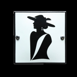 Emaille toiletbord-07 100x100mm
