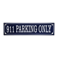 Emaille bord 911 parking only 330x80mm