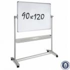 Whiteboard 900x1200mm dubbelzijdig magnetisch verrijdbaar