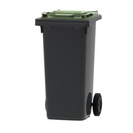 Mini container grijs/ groen deksel- 120 liter