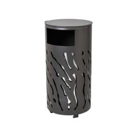 Afvalbak Venise staal met verhoogde inworp - 80 liter