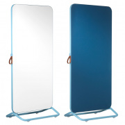 Chameleon Mobile dubbelzijdig whiteboard/ prikbord 890x1920mm wit/ frame en prikbord blauw