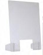 Toonbank beschermwand - 70 x 90 cm - Staand - Transparant