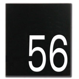 Emaille huisnummerbord model HR-52 160x180mm