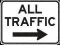 all traffic right 400x300mm DOR
