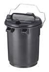 Kunststof vuilnisemmer met deksel en beugel - 35 liter