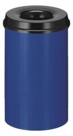 Vlamdovende papierbak blauw/ zwart - 20 liter
