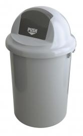 Kunststof afvalbak met klapdeksel - 90 liter