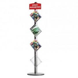 Free standing leaflet dispenser brochure holder t.b.v. formaat A4