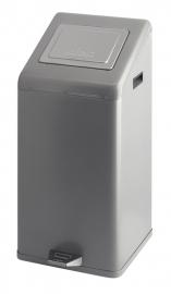 Carro-kick met pushdeksel grijs - 50 liter