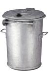 Staalverzinkte afvalbak - 90 liter