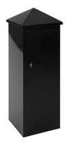 Staande vierkante brievenbus 390x390x1080mm zwart