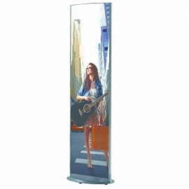 Convex poster-stand