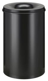 Vlamdovende papierbak zwart - 110 liter