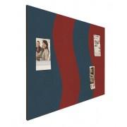 Prikbord bulletin 900x1200mm wave rood/blauw