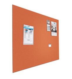 Prikbord bulletin 600x900mm oranje zwevend