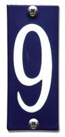 Emaille huisnummerbord HK-B9 40x100mm