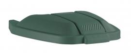 Mobiele container Rubbermaid deksel los groen