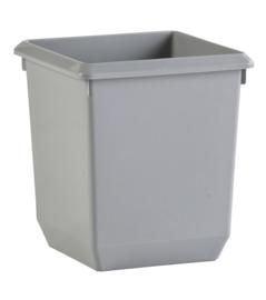 Vierkante papierbak kunststof grijs - 21 liter ( set 4 stuks )
