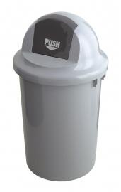 Kunststof afvalbak met klapdeksel - 60 liter