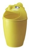 Afvalbak met gezicht geel - 75 liter