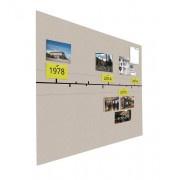 Prikbord bulletin 900x1200mm tijdlijn zwevend
