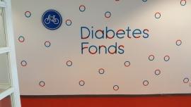 2 verkeersborden in gebouw Diabetes Fonds