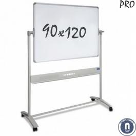 Whiteboard 900x1200mm dubbelzijdig magnetisch emaille verrijdbaar pro